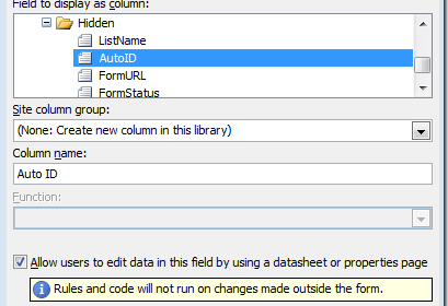 it is a common requirement of infopath projects to make a form in a form library where the name of the xml file is the same as the id of the item