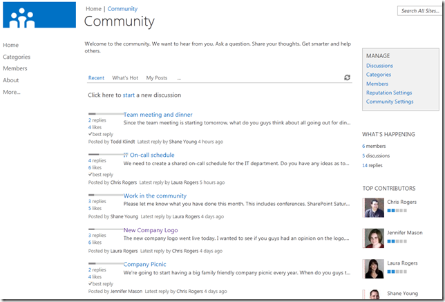 SharePoint 2013 Social: Community Sites | @WonderLaura