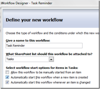 Workflow: Reminder Before Due Date – MOSS vs  WSS | @WonderLaura