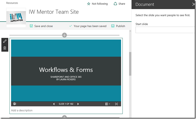 SharePoint modern pages document web part