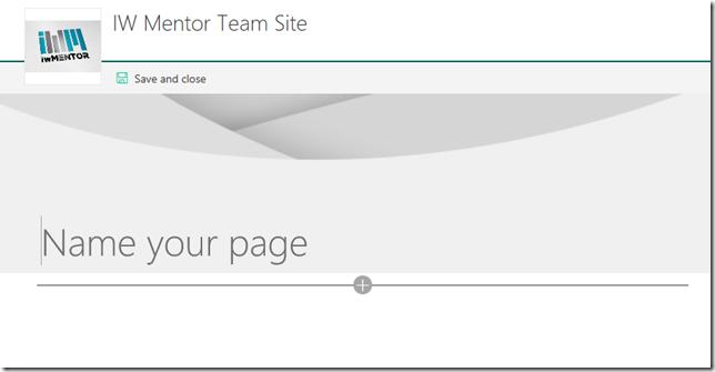 name a SharePoint modern page