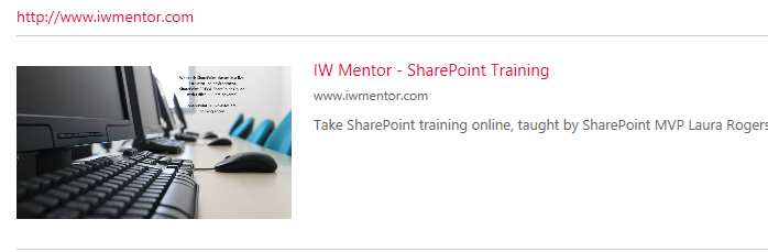 SharePoint modern pages link web part