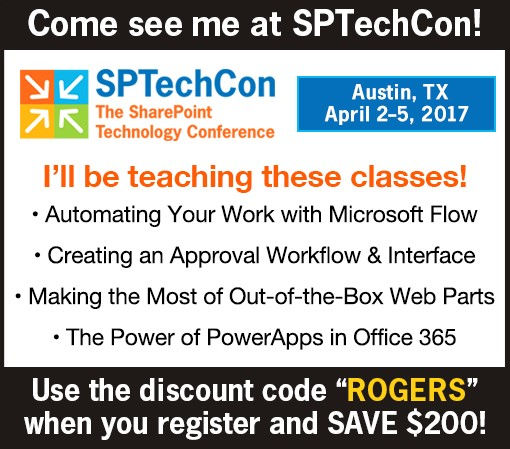 SPTechCon Austin Laura Rogers Sessions