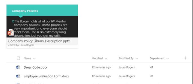 Document Library Descriptions | @WonderLaura