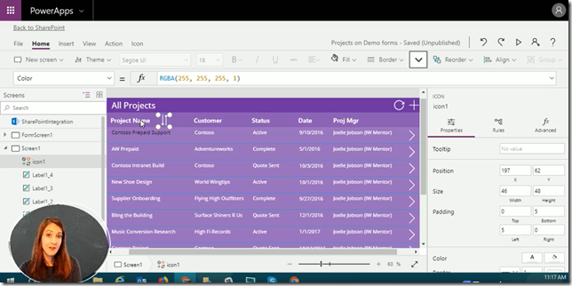 PowerApps: Dynamic Sorting by Column Headers | @WonderLaura
