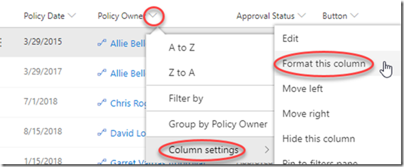 sharepoint-format-polcy-owner-column
