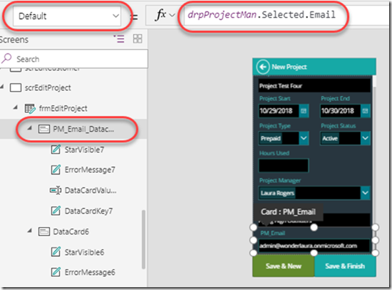 powerapps-default-email-address
