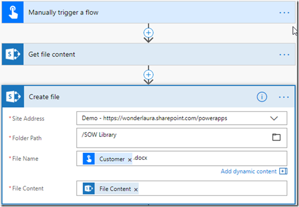 Microsoft Flow & Quick Parts | @WonderLaura