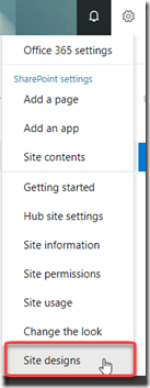 settings-site-designs-sharepoint