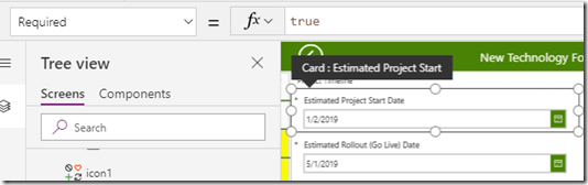 powerapps-card-required