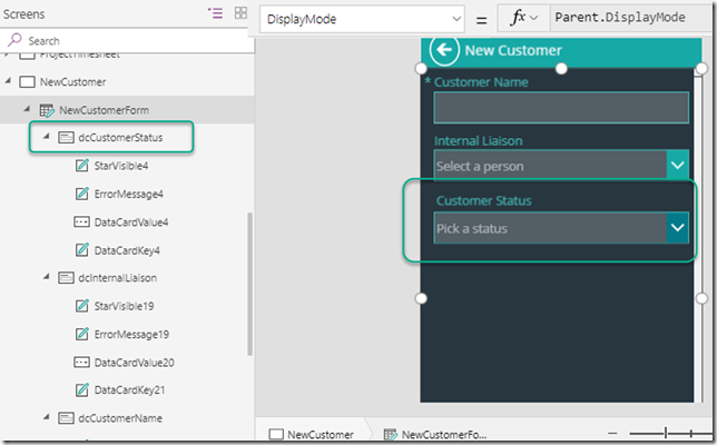 powerapps-card-display-mode