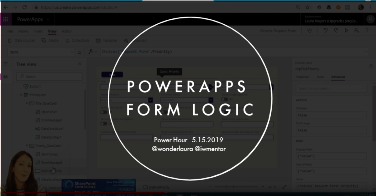 PowerApps Form Logic | @WonderLaura