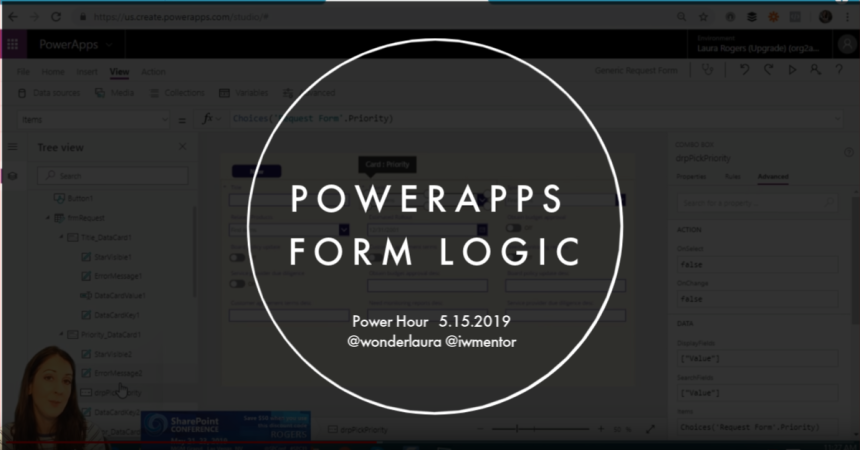 PowerApps form logic