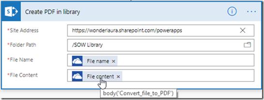 PowerApps & Flow Convert to PDF | @WonderLaura
