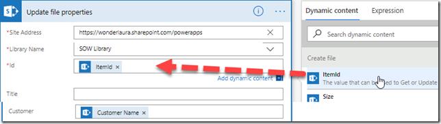 update-file-sharepoint-customer