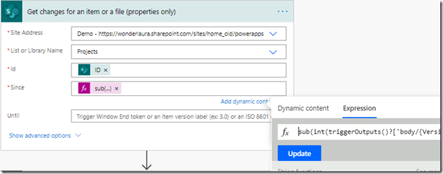 sharepoint-get-changes-for-an-item-or-a-file-action-flow