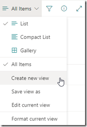 sharepoint-create-new-view-button