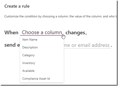 sharepoint-create-rule-column-changes