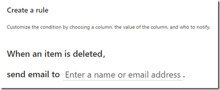 sharepoint-rule-list-deleted-item-notification