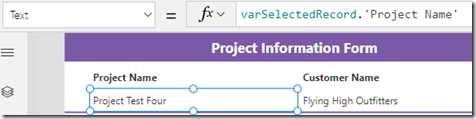 powerapps-label-project-name