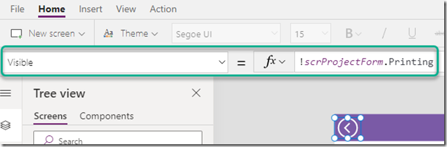 powerapps-screen-not-printing