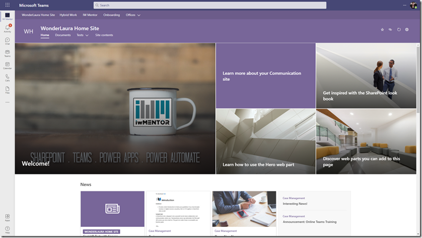 SharePoint-home-site-teams-viva-connections