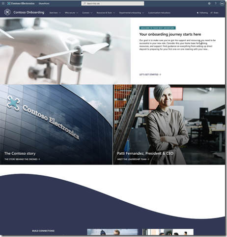 sharepoint-look-book-new-employee-corporate-onboarding-site