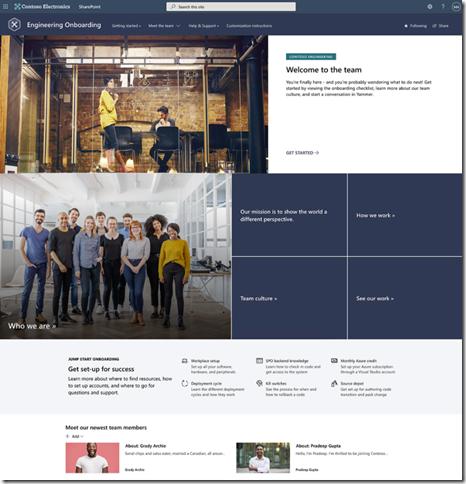 sharepoint-look-book-new-employee-departmental-onboarding-site
