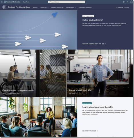 sharepoint-look-book-new-employee-pre-onboarding-template